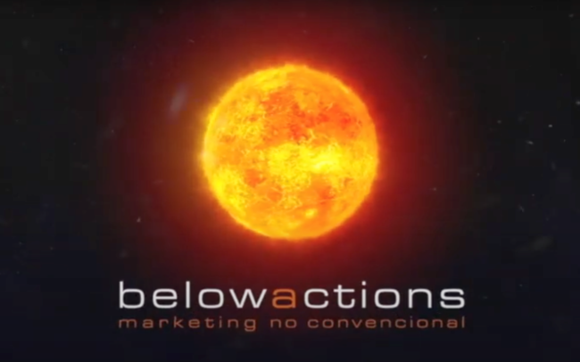 Portada del vídeo de la agencia de marketing de guerrilla Belowactions Barcelona