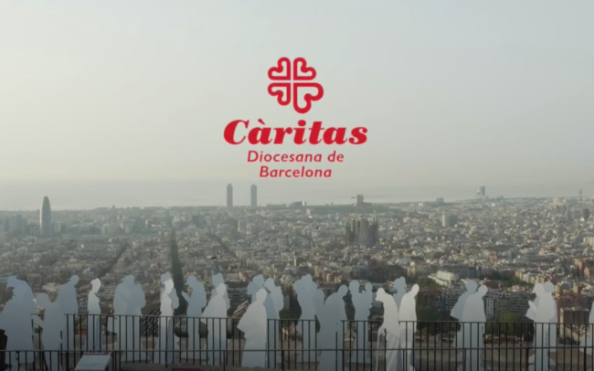 Portada del vídeo de Cáritas de street marketing de Belowactions Barcelona